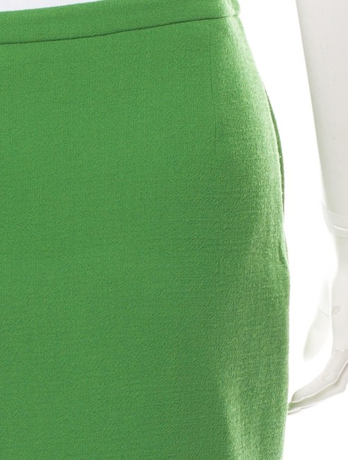 3.1 Phillip Lim Wool Chic Winter Holiday Skirt Green Image 3