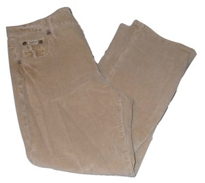 Z. Cavaricci Cords Corduroy Brown Vintage Relaxed Pants Beige