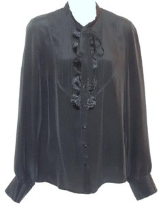 MM Couture Silk Top Black