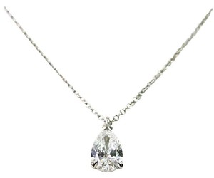 Tiffany & Co. Tiffany Pear-shaped Diamond pendant in platinum 0.605CT