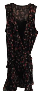 Guess short dress Black w/pink floral print on Tradesy