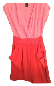 H&M short dress Hot Pink and Red Orange on Tradesy