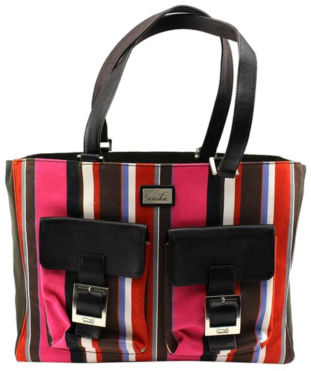 Preload https://img-static.tradesy.com/item/20100722/tote-leather-brown-laptop-carry-all-quilted-multicolor-canvas-weekendtravel-bag-0-2-540-540.jpg
