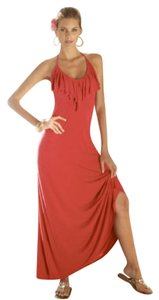 Red Maxi Dress by Boston Proper Sexy Vacation Island Wear Yacht Summer