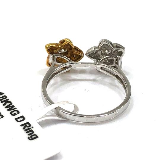 Other 18K White / Yellow Gold Diamons Flowers Ring Image 5