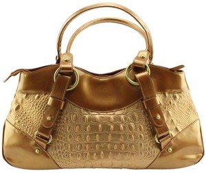 Charlie Lapson Satchel in Gold