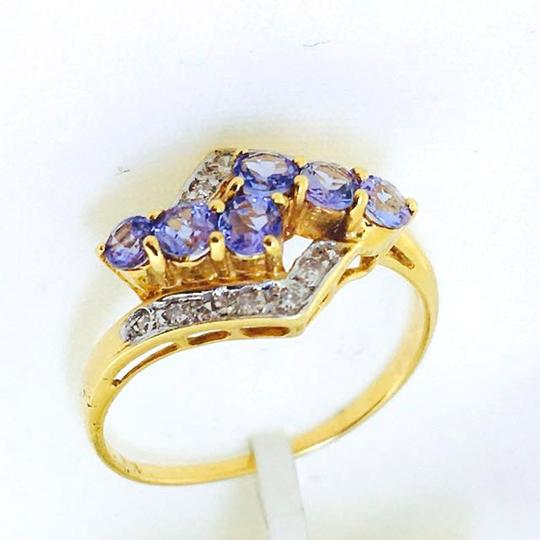 Other 18K Yellow Gold Tanzanite Diamonds Ring