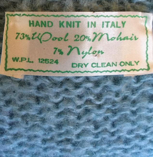 Hand Knit in Italy Vintage Sweater Vintage Sweater Knitted Pastel Sweater Cardigan
