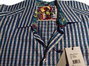 Robert Graham Button Down Shirt Blue check