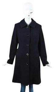 MILLY Textured Long Pea Coat