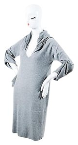 Brunello Cucinelli short dress Gray Cashmere Sequin Hood Draped Sleeve Sweater on Tradesy