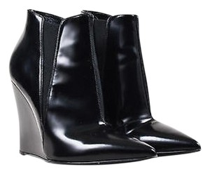 Burberry Leather Wedge Black Boots