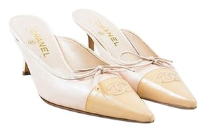 Chanel Light Leather Pink Mules