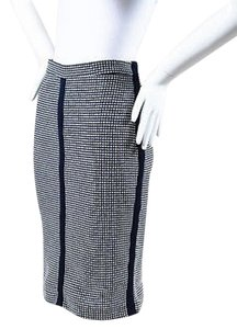 Sea New York Navy White Dot Knit Skirt Blue