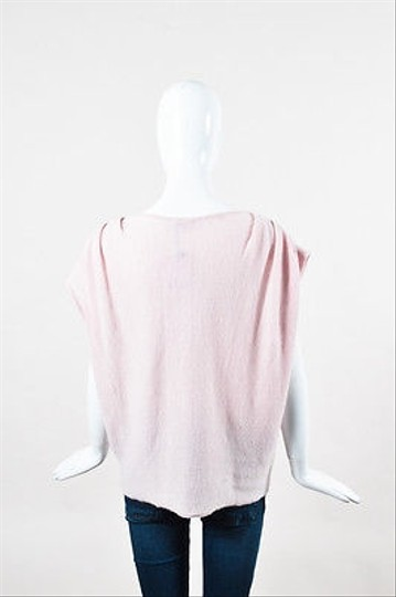 Calypso St. Barth Light Pink Cashmere Ruched Short Sleeve Boxy Top 0 new