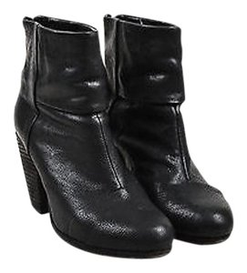Rag & Bone Grained Black Boots
