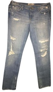 Abercrombie & Fitch &fitch Denim Distressed Straight Leg Jeans-Distressed
