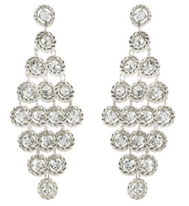 Amrita Singh Amrita Singh Zara Crystal Silver Tone Earrings Erc 5051