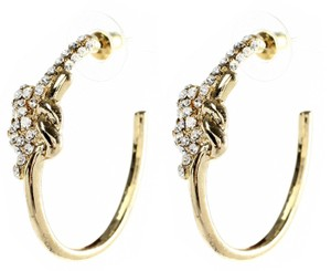 Amrita Singh Amrita Singh Pave Crystal Gold Tone Knot Hoop Earrings Erc 5135