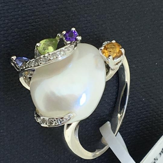 Other 18K White Gold Pearl Diamonds Ring