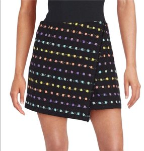 Diane von Furstenberg Mini Skirt Black Multi
