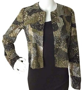 Alice + Olivia Black & Gold Blazer