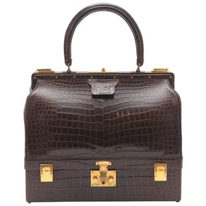Hermès Vintage Crocodile Trunk Case Rare Brown Travel Bag