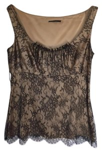 Elie Tahari Top Black and Tan