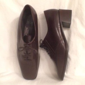 Bally Leather Lace Ups New/nwt Brown Formal