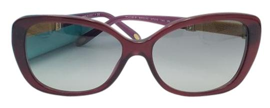 Tiffany & Co. Burgundy Tiffany & Co. w/ Gold Acetate Sunglasses TF 4106-B 800/3C 57