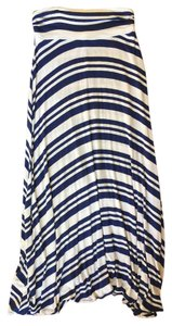 MaiTai Long Stripped Maxi Skirt Blue/white