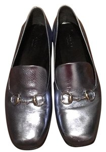 Gucci Metallic blue Flats