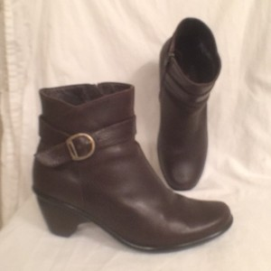 Dansko Buckle Rare Leather Ankle Comfortable Brown Boots