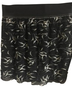 Free People Palm Pattern Mini Skirt Black Pattern