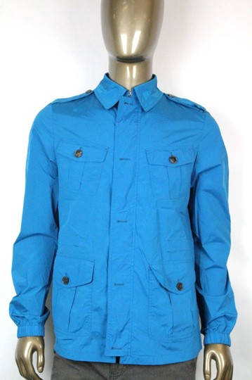 Gucci Turquoise New Mens Nylon Stretch Windbreak Blouse It 60/ Us 50 337454 4610 Groomsman Gift