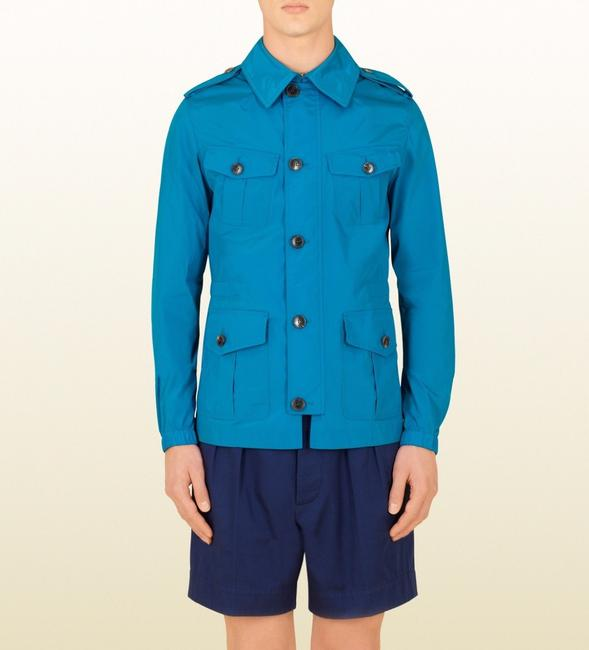 Gucci Turquoise New Mens Nylon Stretch Windbreak Blouse It 56/ Us 46 337454 4610 Groomsman Gift Gucci Turquoise New Mens Nylon Stretch Windbreak Blouse It 56/ Us 46 337454 4610 Groomsman Gift Image 1