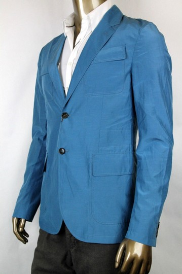 Gucci Teal New Men's Cotton Silk Two Button Light Jacket It 58/ Us 48 304814 4670 Groomsman Gift