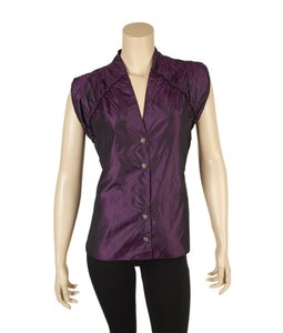 Chanel Silk Sleeveless Top Purple