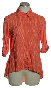 Xhilaration Button Down Shirt Orange