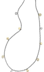Tory Burch Tory Burch Logo Charm Rosary Necklace Gold/Silver