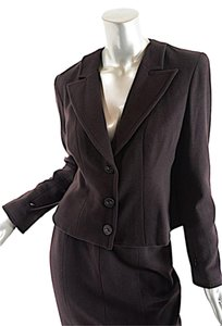 Chanel CHANEL 100% Cashmere Brown Skirt Suit 02A 42/US 10 Worn Once