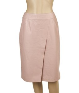 Chanel Leather Pencil Skirt Pink