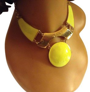 Other Gold Tone, Yellow Choker/ Statement Necklace
