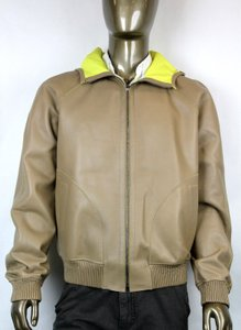 Gucci Brown New Men's Leather Bomber W/Hood It 54 / Us 44 343775 2505 Groomsman Gift