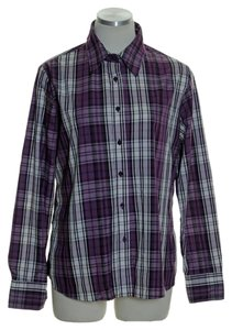 White Stag Button Down Shirt Purple