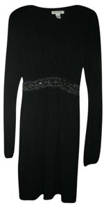 White House | Black Market Longsleeve Beaded Empire Waist Holiday Dress