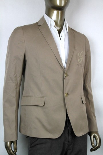 Gucci Light Brown New Men's Embroidered Logo Jacket It 60/ Us 50 337796 2903 Groomsman Gift