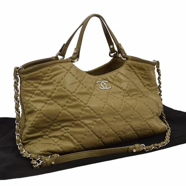 Chanel Jumbo Cc Quilted Brown Leather Shoulder Bag Chanel Jumbo Cc Quilted Brown Leather Shoulder Bag Image 1