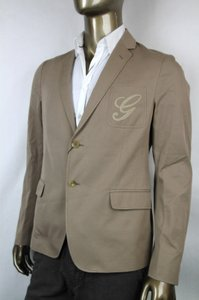 Gucci Light Brown New Men's Embroidered Logo Jacket It 52/ Us 42 337796 2903 Groomsman Gift