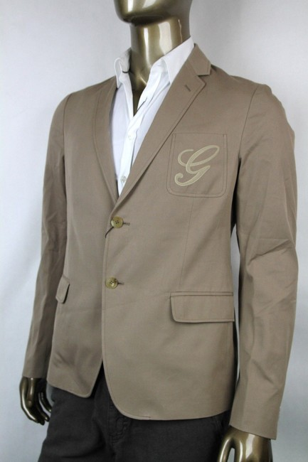 Gucci Light Brown New Men's Embroidered Logo Jacket It 50/ Us 40 337796 2903 Groomsman Gift Gucci Light Brown New Men's Embroidered Logo Jacket It 50/ Us 40 337796 2903 Groomsman Gift Image 1